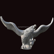 vivid hand-carving stone flying eagle sculpture