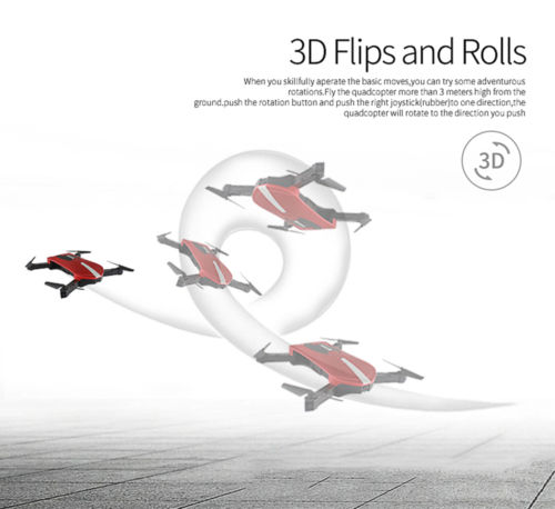 Mini Portable Folding 6-Axis Gyro WIFI FPV Drone with Altitude Hold & HD Camera