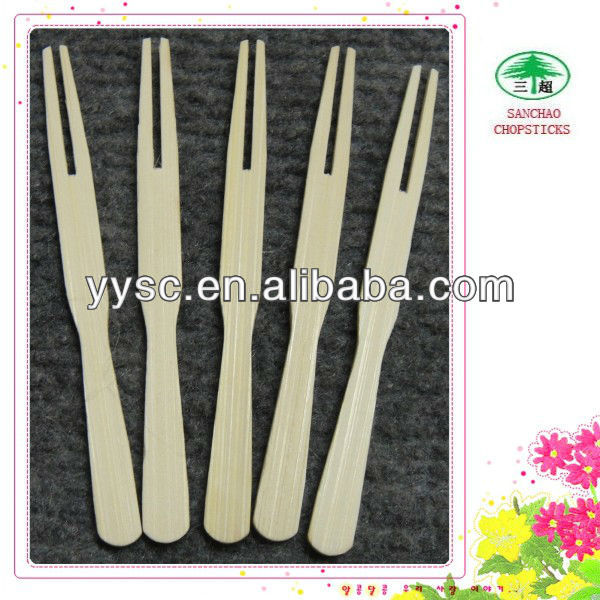 bamboo item fruit forks