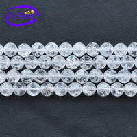 Popcorn crystal white color crystal beads string, chinese crystal beads wholesale, beads crystal beads