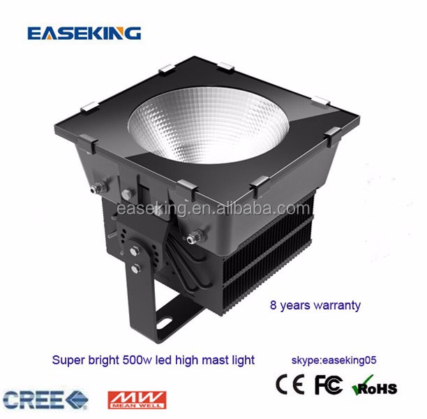 Outdoor led high mast light waterproof 500w led flood light for sports venues