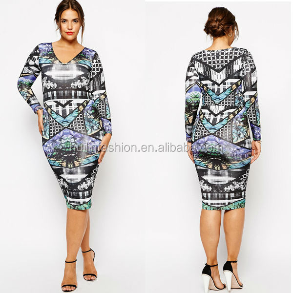 Fashionable wholesale india sexy hot girls photos long sleeve fat women clothes 2014