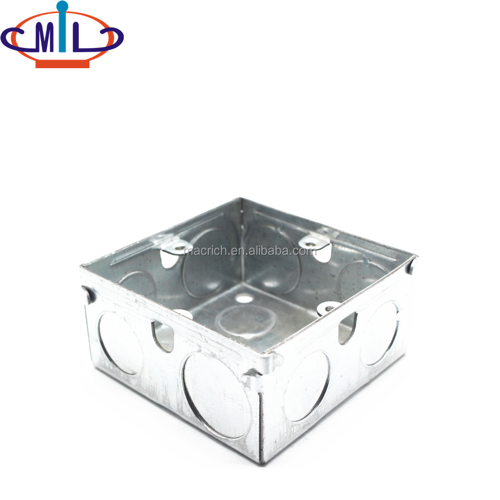 3X3 inch UL list galvanized steel electrical junction box metal