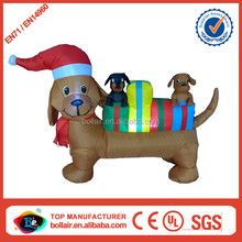 Super popular new christmas inflatable dachshund