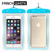 Wholesale oem plain colored fluorescence PVC water proof phone case
