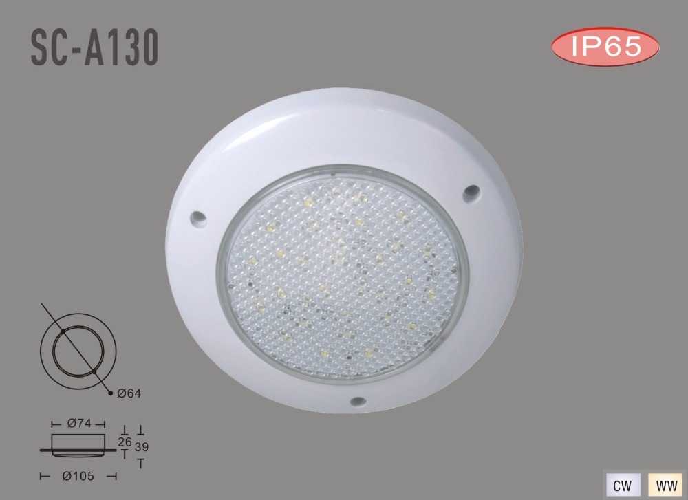 3w IP65 12 volt led marine camping cabinet light(SC-A130)