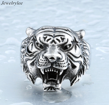 Crazy Angray Lion Head Ring Cool Men Designs Lion Animal Ring