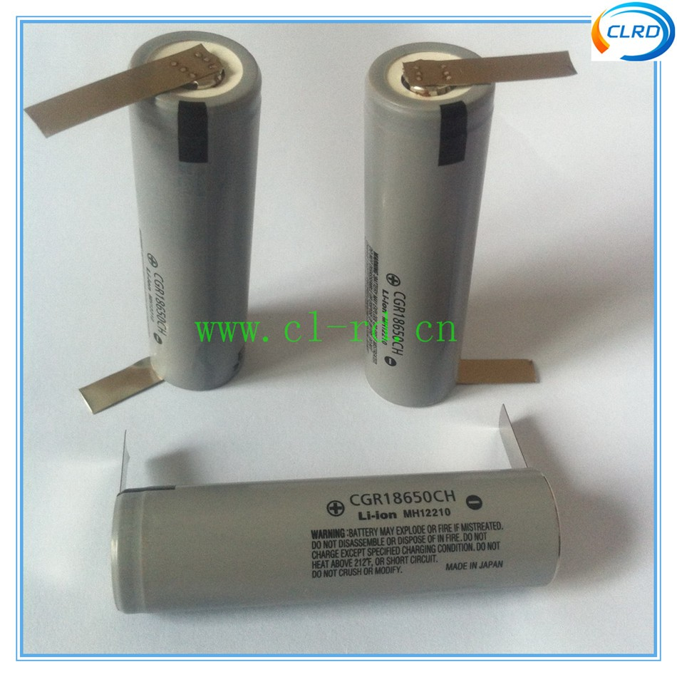 Original 5C discharge rate Japan cell cgr18650ch 10A 18650 2250mah li-ion batteries With nickel tabs