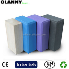 factory price physical fitness and exercise light various colors biodegradable EVA yoga block