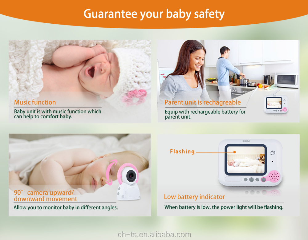 LCD child monitoring security surveillance indoor camera wireless video baby monitor