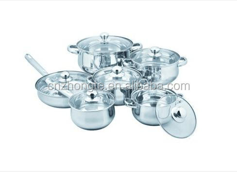 Cheap and high quanlity 12 pcs Stainless Steel Cookware Set