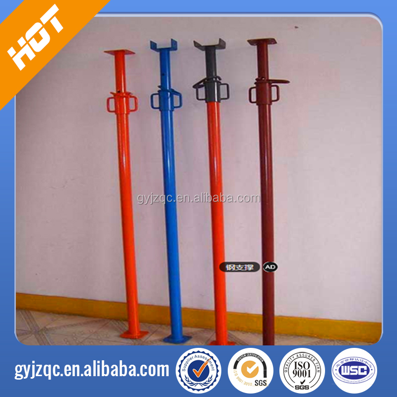 Light duty adjustable expandable scaffolding shoring props / jack 1.6-4m