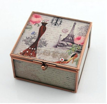 European Wedding Gifts Crystal Glass Jewelry Box