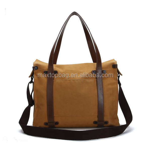 Wholesale cheap and durable women canvas messenger bags