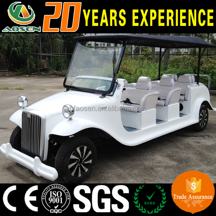 2017 New type Aosen CE certificated Classic electric vintage golf cart for sale