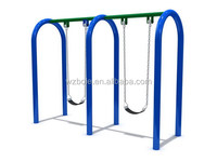 good quality outdoor double metal swing set for kids and adults BLS-012