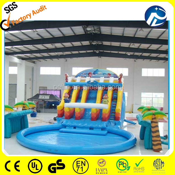 inflatable water slide pool/ inflatable water slides wholesale