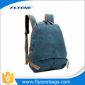 Student fashion vintage canvas school backpack
