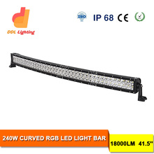 LED 12V Strobe Light Bar! Curved 240w 288w 300w Offroad LED Bar Remote Control RGB Flashing Bar Light for 4wd Car Jeep