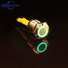 Abbeycon Waterproof metal led 12mm push button switch ip67