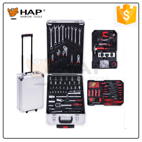 Swiss 186pcs Aluminum Case Tool Set Germany Kraft 186 pcs Tool Set