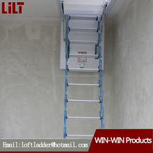 Household aluminum folding retractable stair lift the attic interior padded invisible ladder telescopic ladder