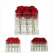 high quality clear acrylic rose flowers display boxes