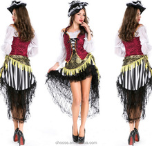 High Quality New Fashion Halloween Costume Adult Women Fantasy Cosplay Pirate Costumes Halloween Party costumes