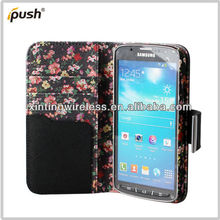rose designed pu leather case for Samsung Galaxy Mega 6.3 I9200