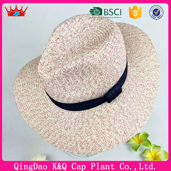 2016 china factory wholesale different colors crochet paper straw hats for summer