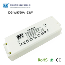 Hot sale W9760A-Y high power factor low Thd 1500ma constant current led driver 50w 60w 63w with plastic housing