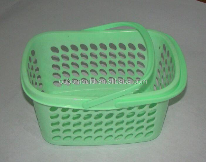Flexible vegetable shopping handle basket mold plastic injection mould making