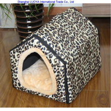 Best quality wholesale newest leopard triangle shaped house pet house luxury outside dog kennel
