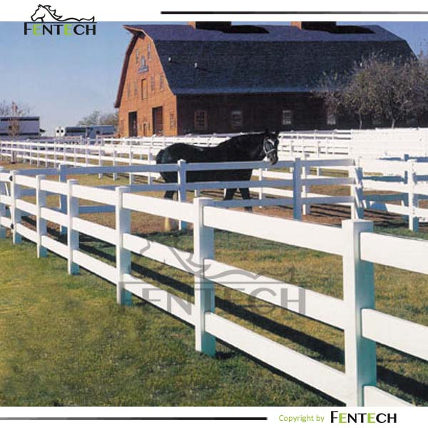 Eco Friendly High Quality Vinyl Pvc Horse Paddock Fence Panel Factory