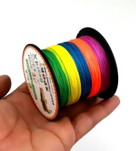 300m PE 4 Wired Dynema line 5 colors mixed 300M fishing line playing up FLP43