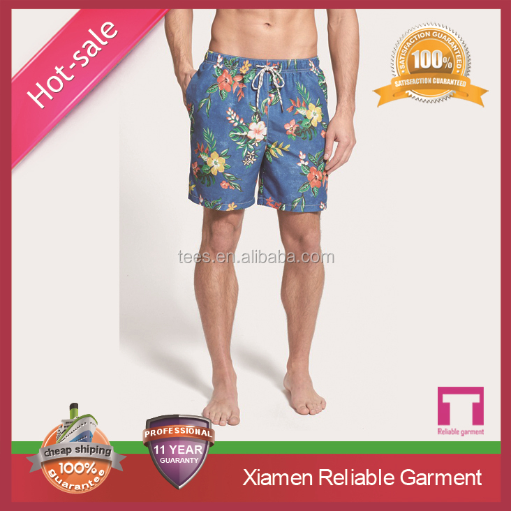 2015 summer mens 100% polyester swim shorts wholesale swimming beach shorts