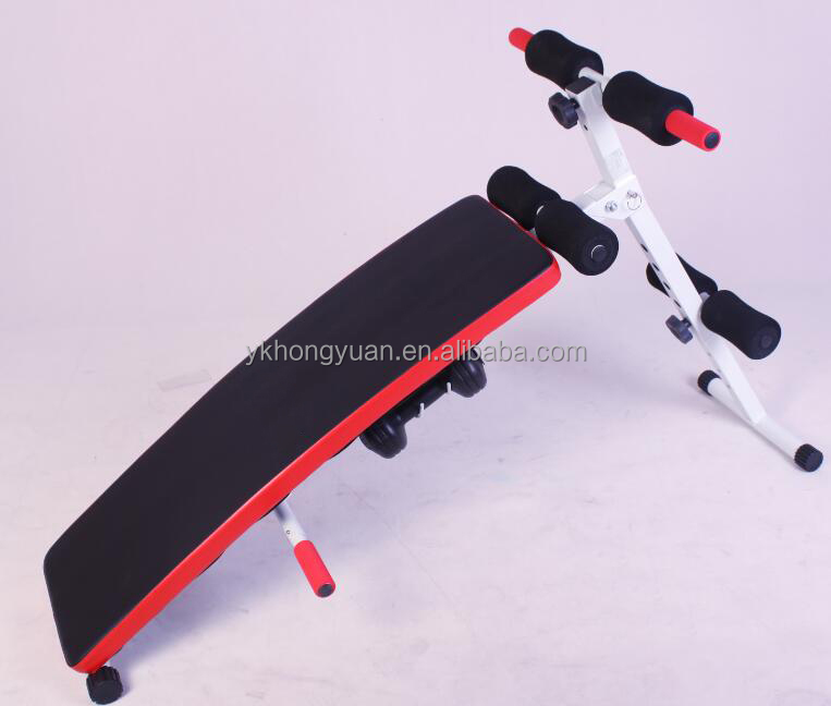 Durable Quality Indoor Adjustable Abdominal Bench / Ab Sit Up Bench