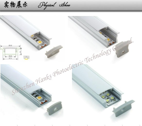 2016 Hot sale! Best price LED aluminum profile for LED strip 2835/LED profile