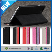 C&T Wholesales business style folio flip simple pu leather stand case for apple iphone 6 6s