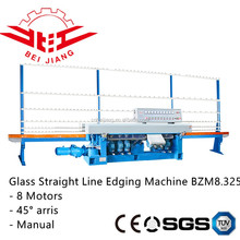 8 motor glass straight line edging machine/glass polishing machine/glass machinery