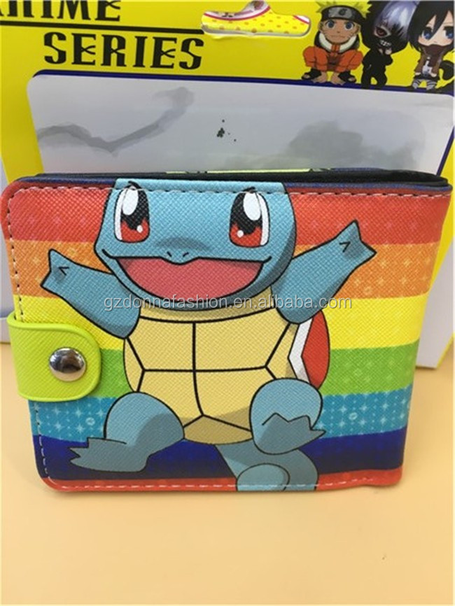 Wholesale Hot Anime Anime Purse Squirtle PU Wallets DNAF5EE040