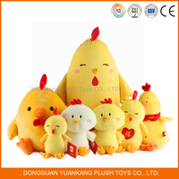 Custom yellow plush chicken toy