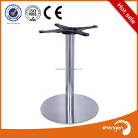 High Quality Round Table Base Chrome stainless steel table base for glass
