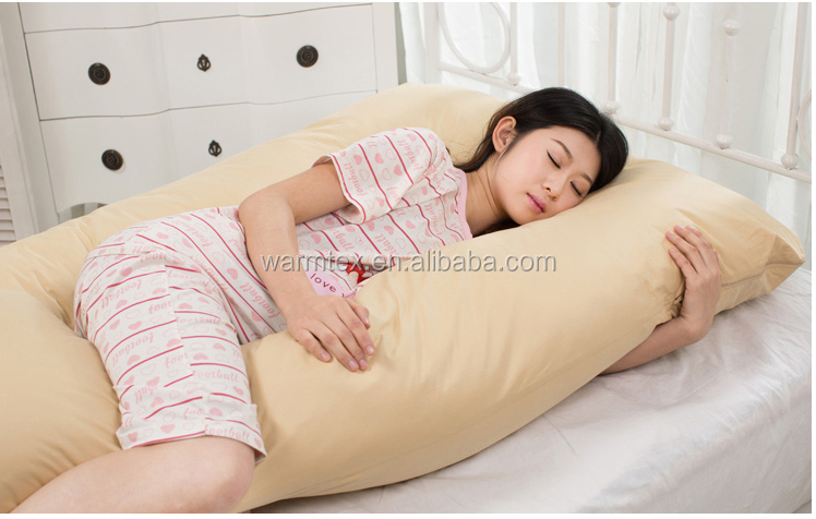Royal hotel cotton body pillow,<strong>U</strong> shape durable soft body pillow,pregnancy pillow