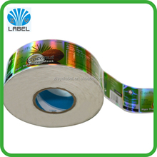 laser cut vinyl stickers Hologram label laser film sticker with vinyl material strong adhesive label