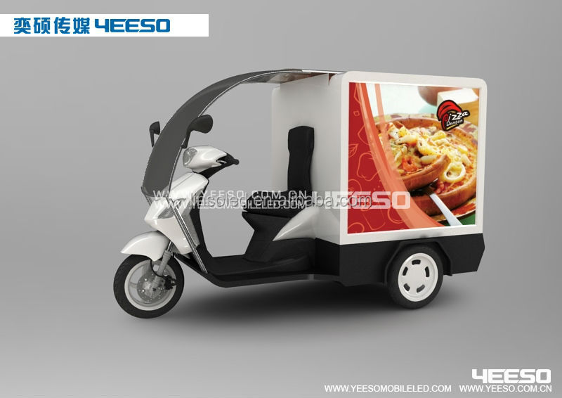 Outdoor Mobile Advertising Electric Vehicles, Electirc Tricycle and Motor Tricycle with LED Screen or LED Light Box