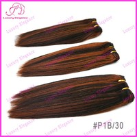 # 1B 30 Mixed Color Hair Weave Extensions Brazilian Yaki Straight Hair Weaving Free Shipping