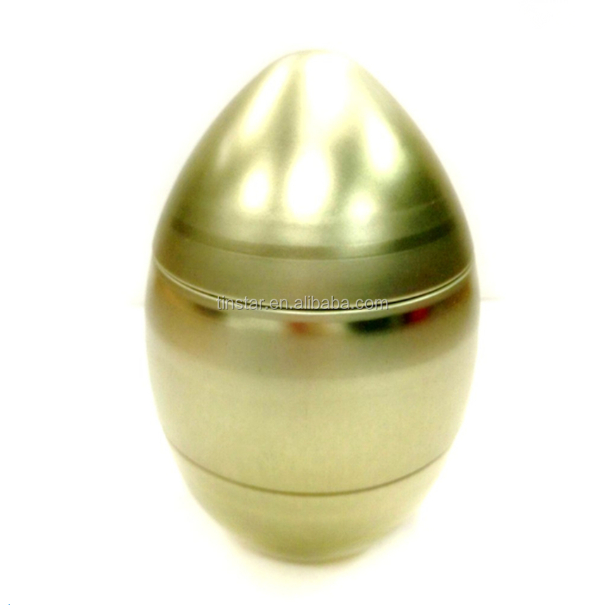 Attractive easter egg shape chocolate tin box