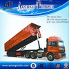 China 2015 NEW hydraulic tipping dump truck / tipper semi trailer for sale