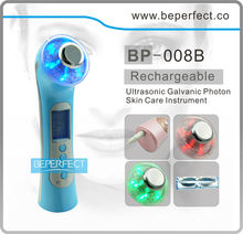 BP-008 2014 new beauty products for Ultrosonic and galvanic led light pdt skin rejuvenation beauty machine